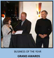 Grand Awards recognized as the 2015 Business of the Year by the Pismo Beach Chamber of Commerce